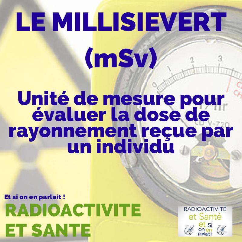 Qu'est ce que le millisievert? #radioactivité #santé