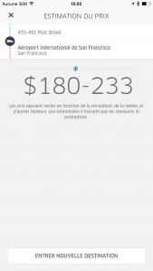 Uber et l'estimation de la course en Taxi