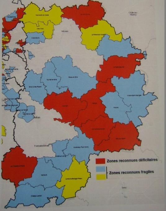Cartographie du désert médical en France