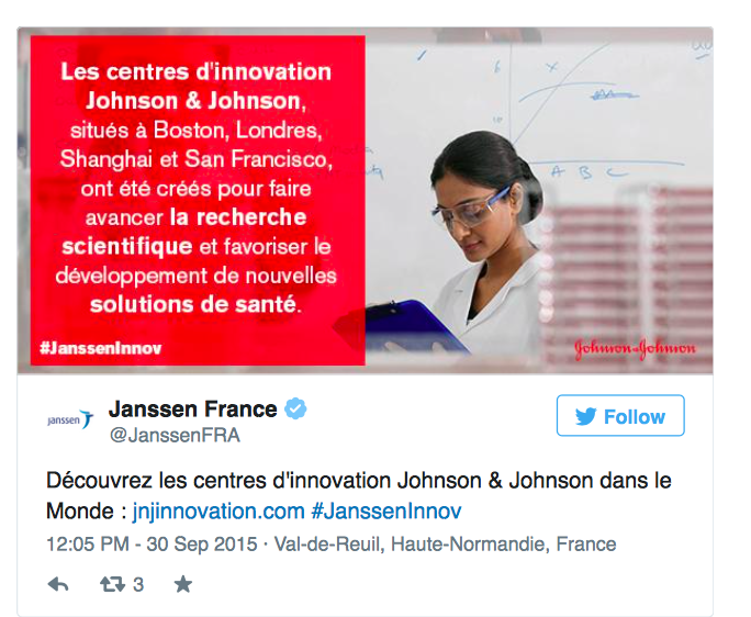 Centres d'innovation J&J dans le monde