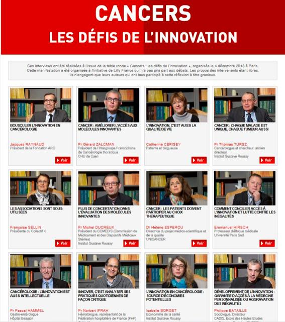 Cancers : les défis de l'innovation - interviews