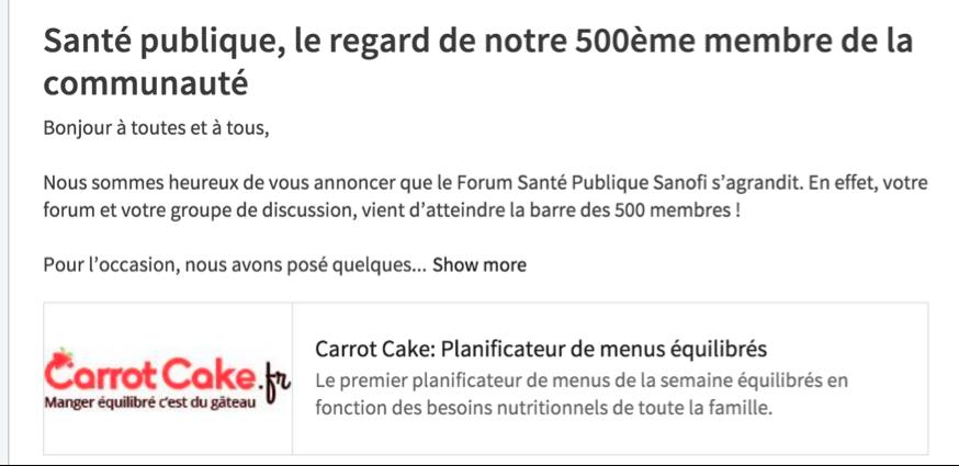 8 FSP 2016 Forum Sante publique SANOFI