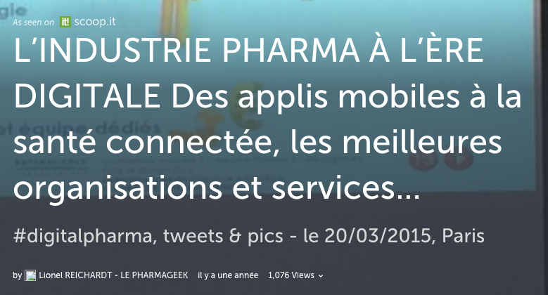 Storify #Digitalpharma Mars 2015 by Pharmageek