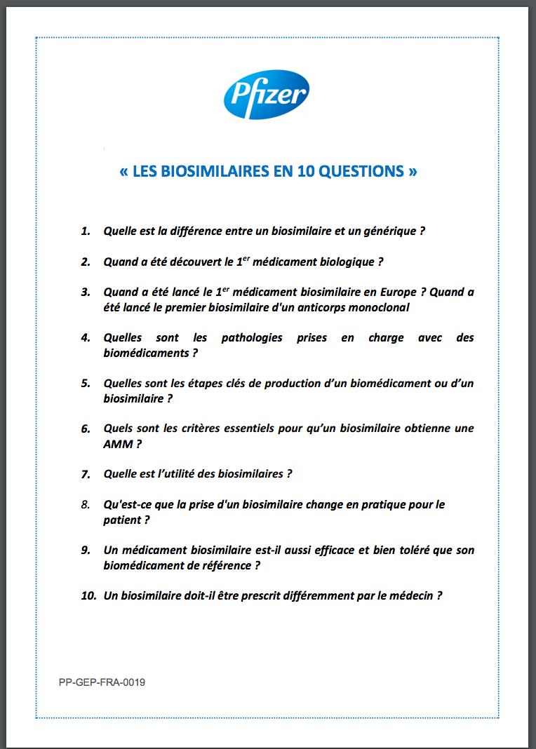Biosimilaires en 10 questions